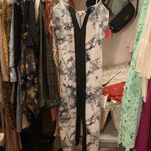 Charlotte Russe Marble Print Midi Dress